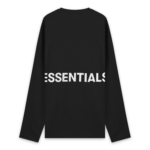 FOG ESSENTIALS / Boxy Graphic Long Sleeve T-Shirt / BLACK 2019 SS