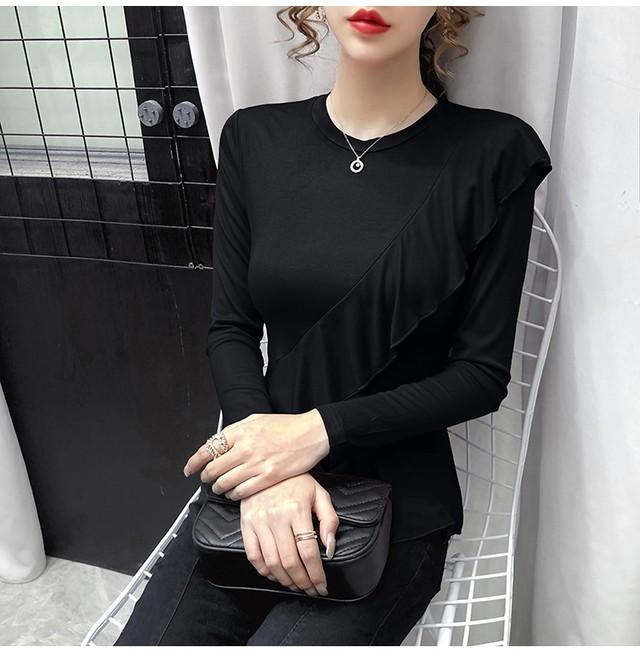 フレンチフリルボトミングTシャツ【R0167】