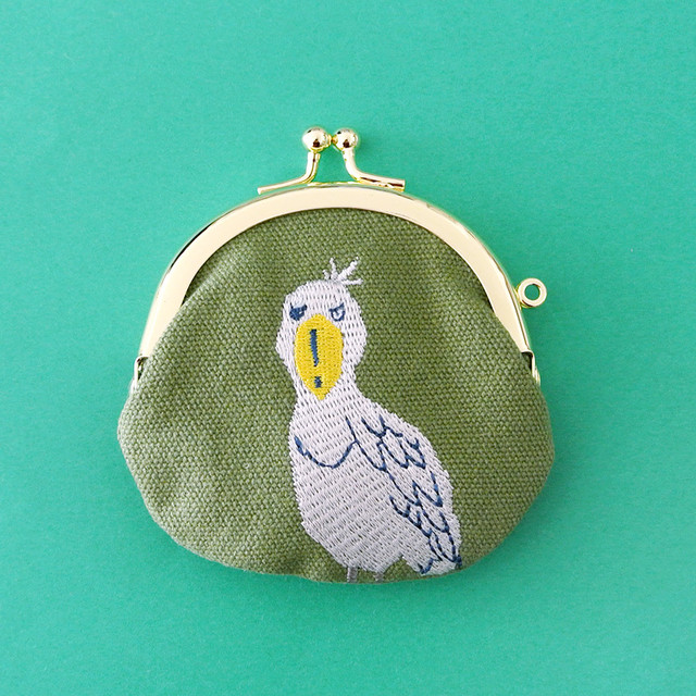 新商品《鳥/ハシビロコウ》ハシビロコウ がまぐちポーチ 小銭入れ