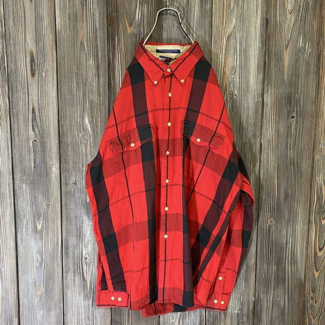 [TOMMY]90s rare check pattern shirt