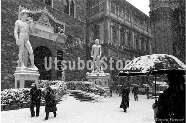 2010年撮影 シニョーリア広場 雪景色【310201001】