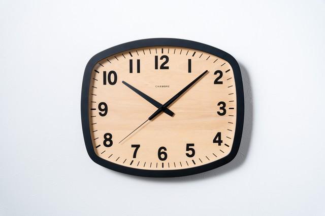電波時計 R-SQUARE CLOCK 【BLACK】