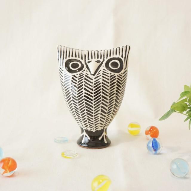 429 リトアニア 陶器の笛/フクロウ
