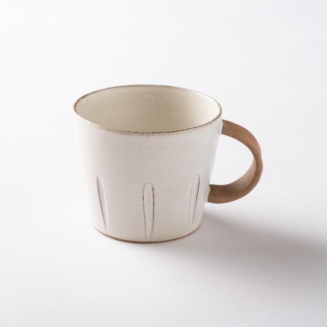 【美濃焼】デカマグカップ「窯ぐれ 白マット デカマグ」