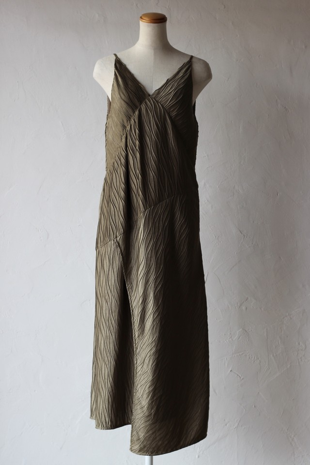 【BELPER】pleated dress-khaki