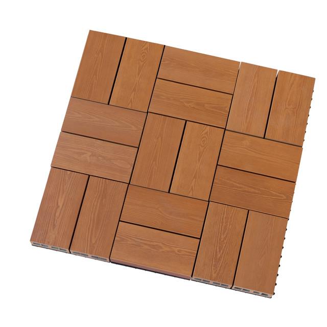 彩木スナップデッキ ウッドデッキパネル(唐茶色) 単位:ケース(9枚入り)
