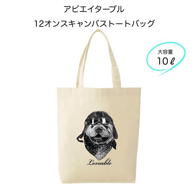 【受注生産】12オンスキャンバストートバッグ■フルールパティ