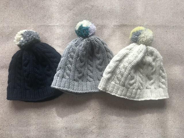 baby&kids ビッグポンポンニット帽