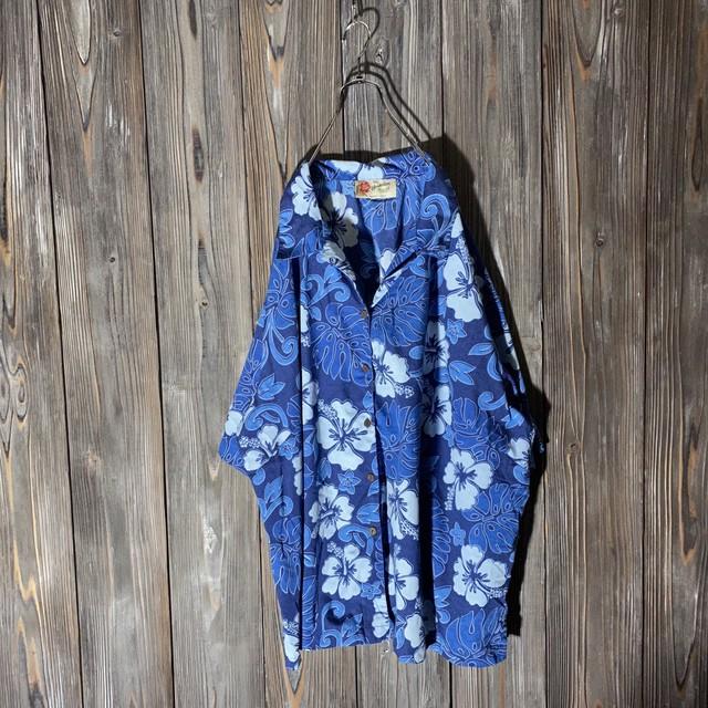 [used]dark blue aloha  shirt