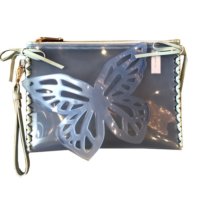 SOPHIA WEBSTER BUTTERFLY CLUCTH CLEAR BLUE