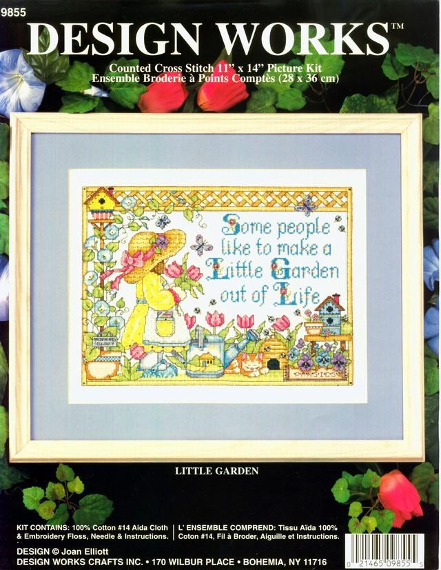 クロスステッチキット 「小さなお庭」 LITTLE GARDEN  (DESIGN WORKS 9855):C-6510