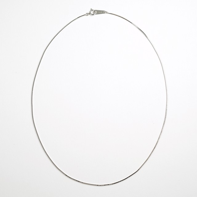 Legato choker necklace(white gold)