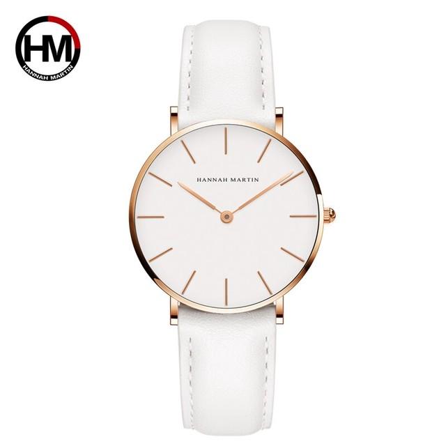 女性のファッション時計因果革ストラップ日本クォーツムーブメントトップ高級ブランド腕時計防水relogiofemininoCB36-FB