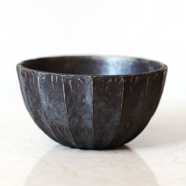 Roughness Black Plants Pot(No,06)※LARGE