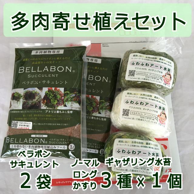 ギャザリング水苔3種&ベラボンサキュレント2袋 セット - メイン画像