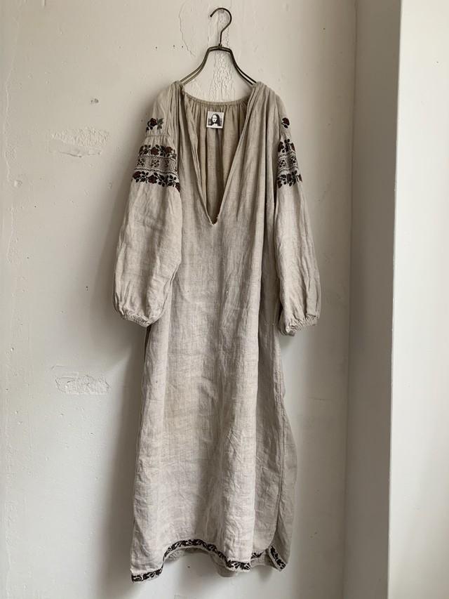 SOROCHKA euro antique linen embroidery dress