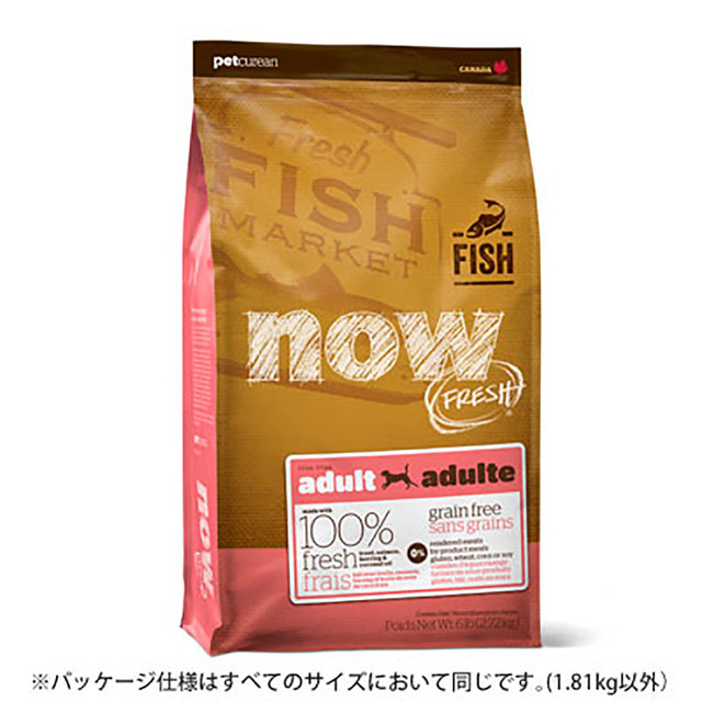 2.72kg NOW FRESH Grain Free フィッシュアダルト DOG