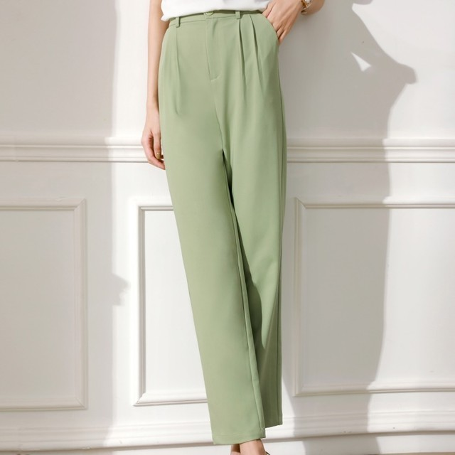 Mint Green Simple Casual Pants T625