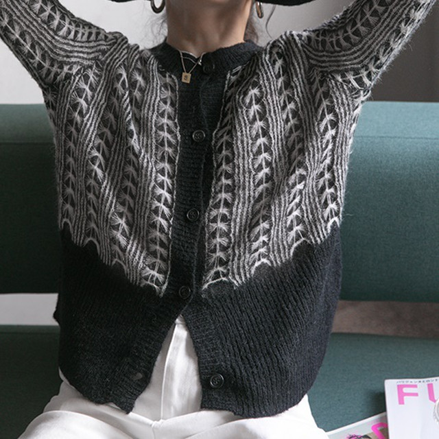 Retro knit cardigan(レトロニットカーディガン)a-874