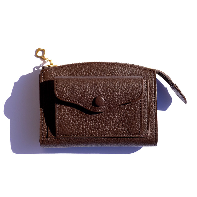 Brick  COW LEATHER SMALL WALLET ブラウン