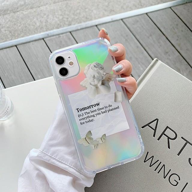 オーロラシート付♪ angel letter iphone case