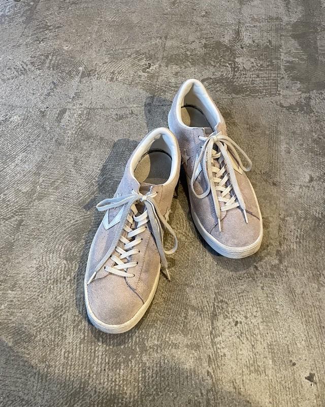 (AC101)CONVERSE suede low cut shoes