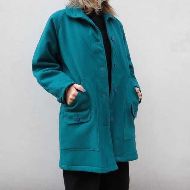 made in USA Woolrich turquoise wool coat