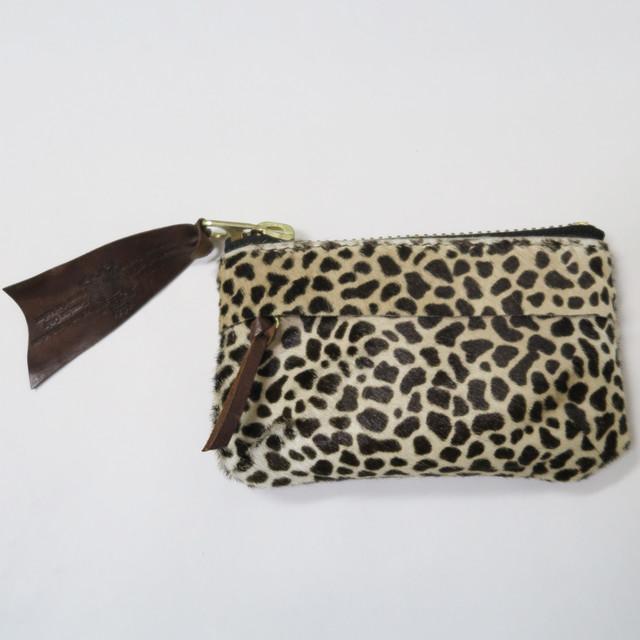 【saranam】zip coin purse wallet(cheetah) / 【サラナン】ジップ 小銭入れ(チーター)