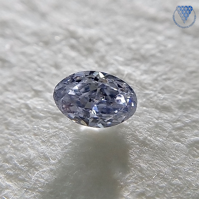 0.059 ct Fancy Grayish Violet SI2 CGL 天然 ヴァイオレットダイヤモンド ルース オーバル