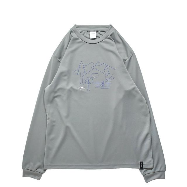 MEWSHIP BASE L/S PL <Gray×Blue×White> - メイン画像