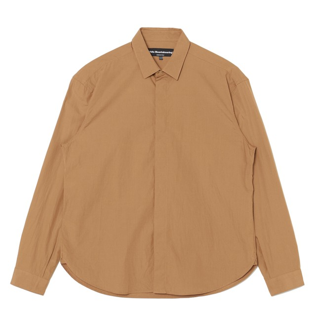 FLY FRONT SHIRT - BEIGE