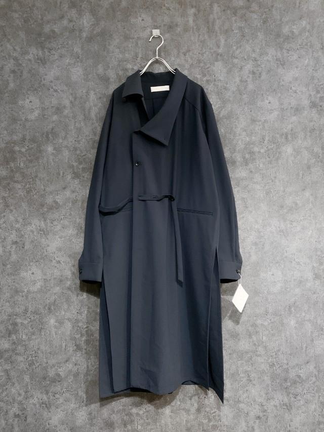 2020 aw ETHOSENS long shirt coat E220 301 Blue