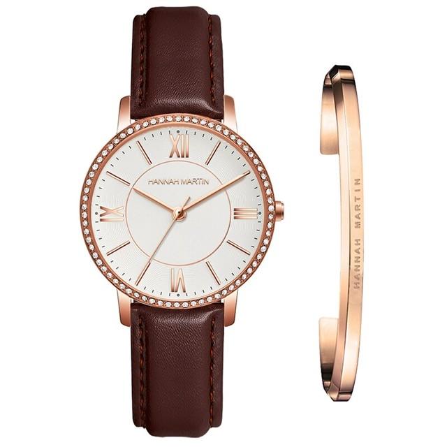 1セット時計&ブレスレット女性日本クォーツラインストーン腕時計トップブランド高級ファッションカジュアルレディース時計1072PZ1-SZ