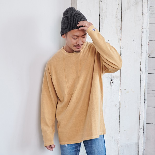 PIGMENT WASH BIG LONG T-shirts[REC148]