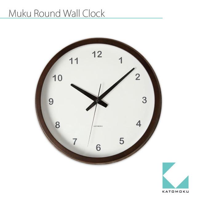 KATOMOKU muku round wall clock km-31B
