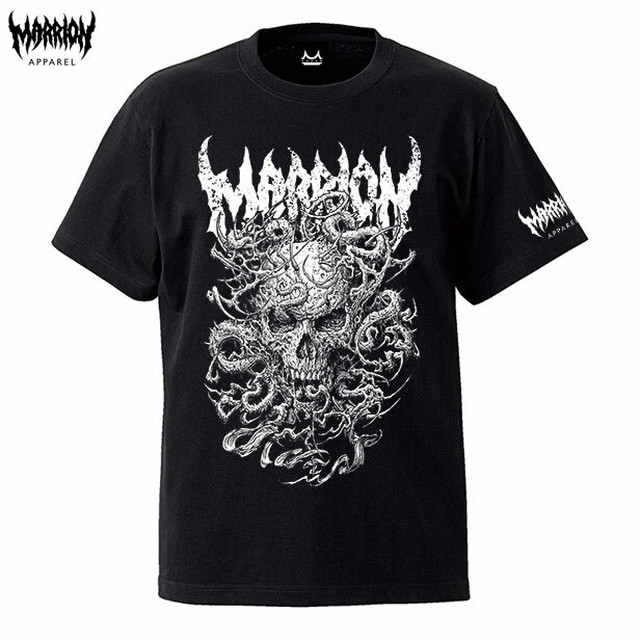 SKULL TENTACLE TEE (Black×White)