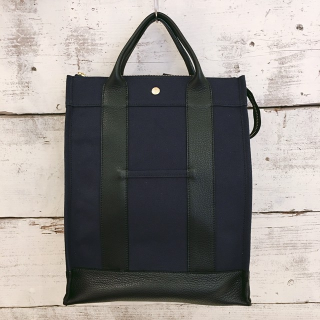Leather backpack【kyoko model】(Navy)