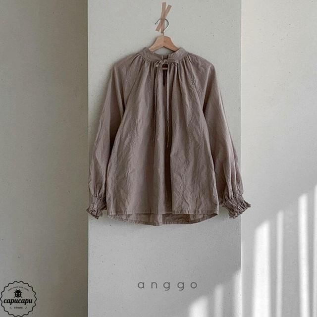 «予約»«mom» embroidery blouse 2colors 刺繍ブラウス ママサイズ