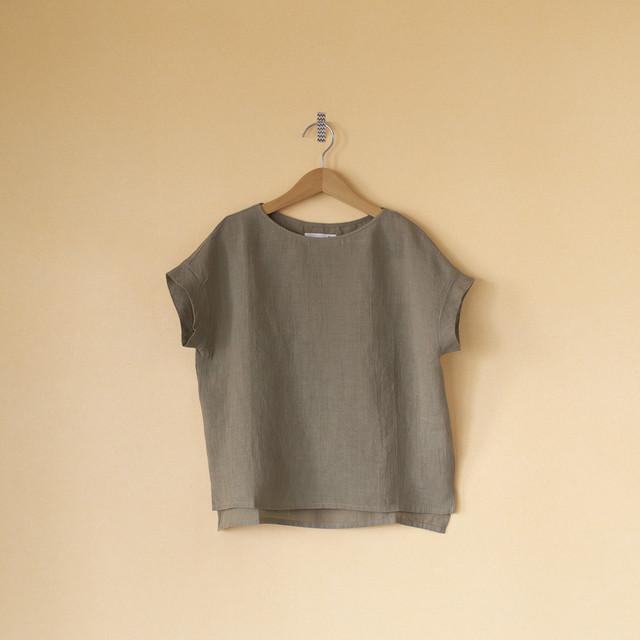 evam eva エヴァムエヴァ linen shirt pullover リネンシャツプルオーバー・サンド