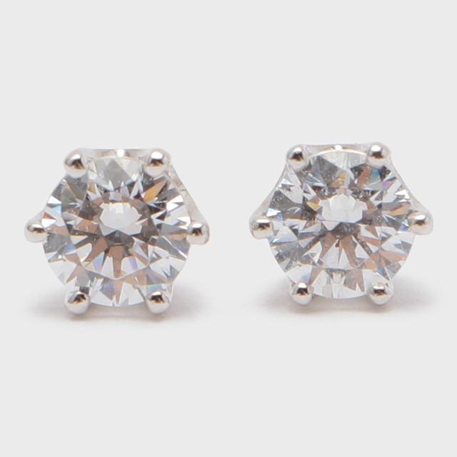 BIJOUPIKO Diamond Pierce  K18WG (ビジュピコ 6点留めダイヤモンドピアス 0.4ct K18ホワイトゴールド)