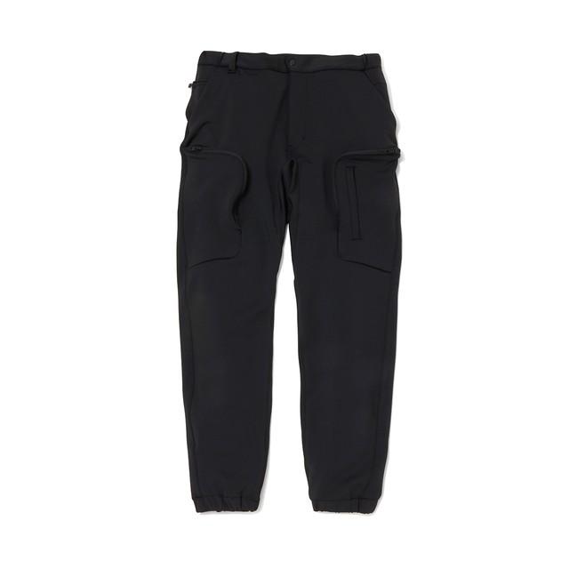 JERSEY TECH CARGO PANTS - BLACK