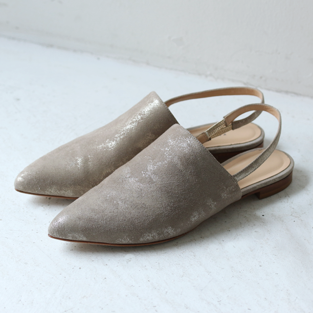【FABIO RUSCONI】 Back Strap Flat Shoes
