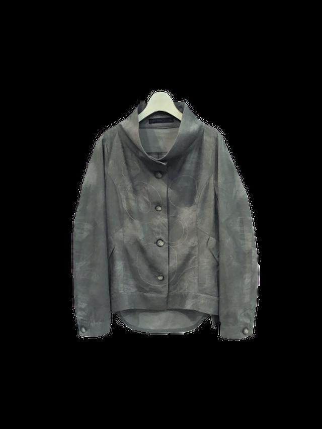 ムラ染めプリント刺繍ジャケット【294-4141】