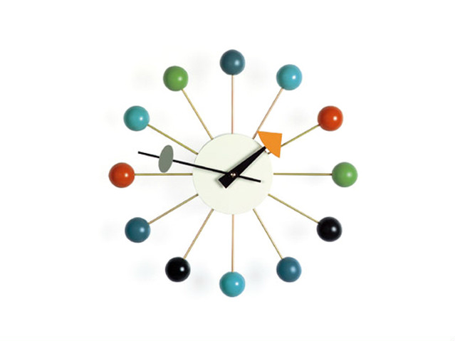 【Vitra Design Museum】Ball Clock 【Multi Color】