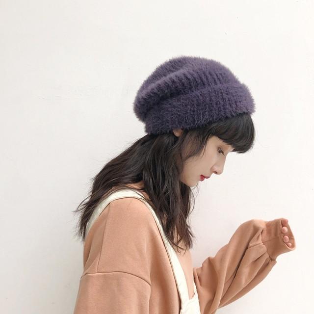 カラフルニット帽 D0494