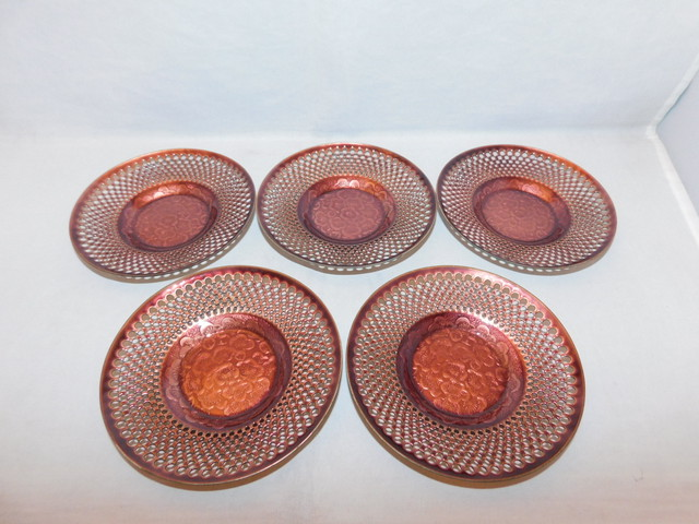 七宝松茶托5客) cloisonné enamel Japanese tea five saucers (No12)         19800