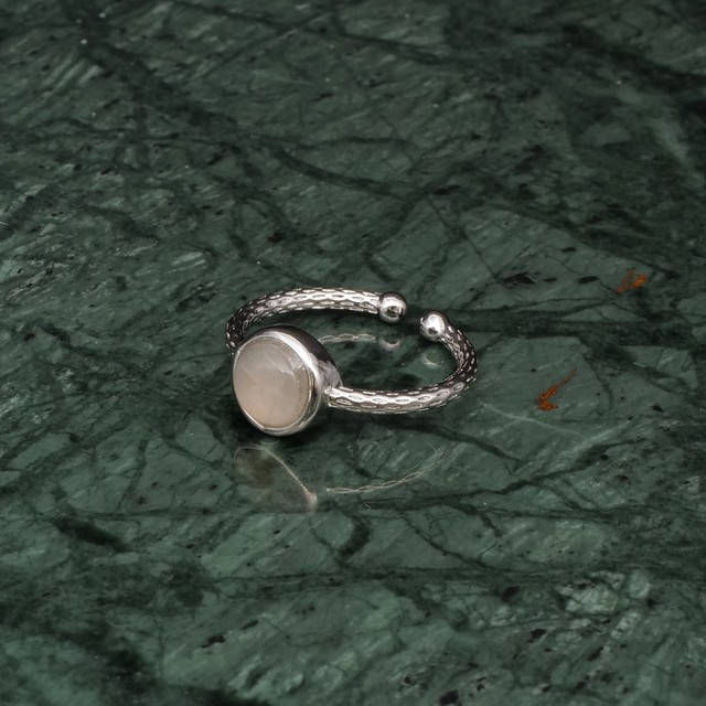 SINGLE MINI STONE RING SILVER 019