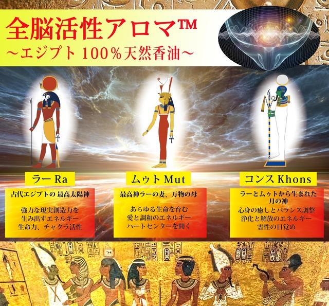 【全脳活性アロマ™】 ~エジプト神々の香り~ テーベ三柱神シリーズ