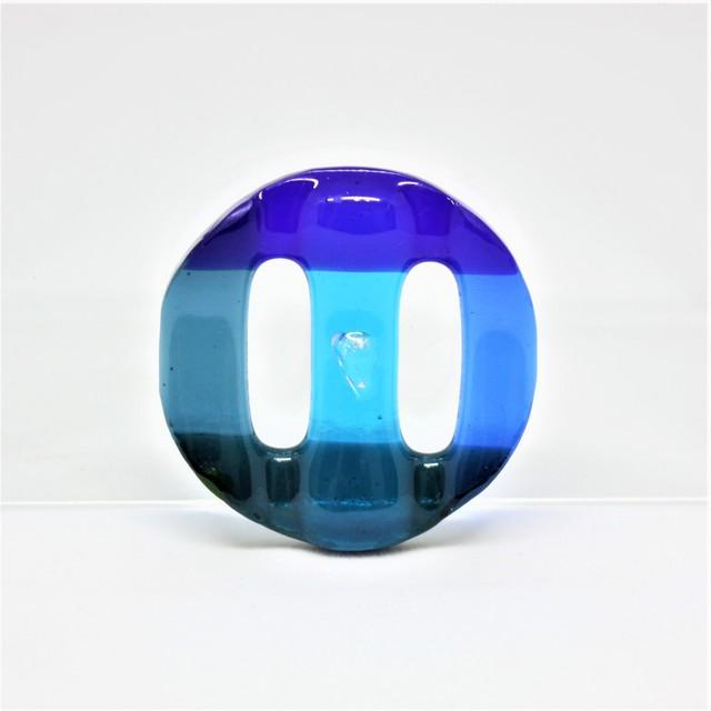 涼やか帯留め/ガラス