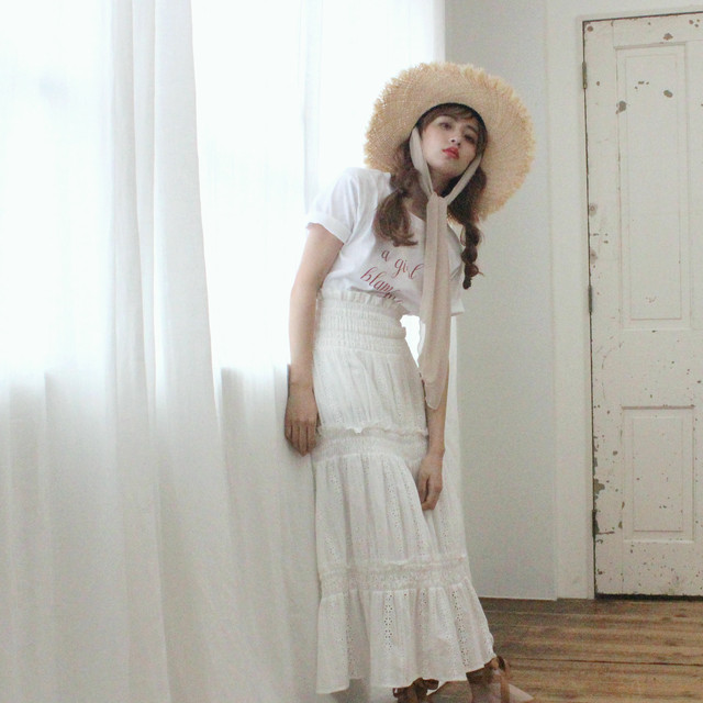 【lottie made】cotton flare sk (S19-03036O)